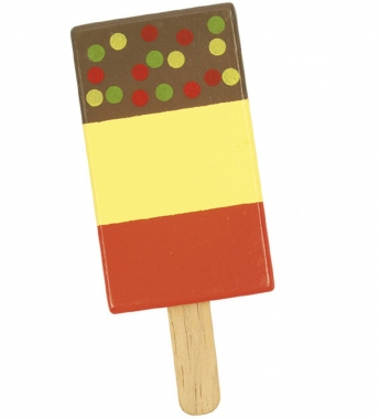 Wooden Ice Lolly - Sprinkles