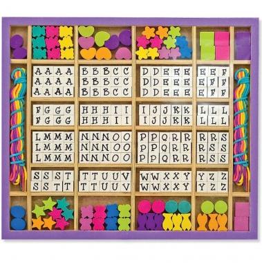 Alphabet Stringing Wooden Bead Set