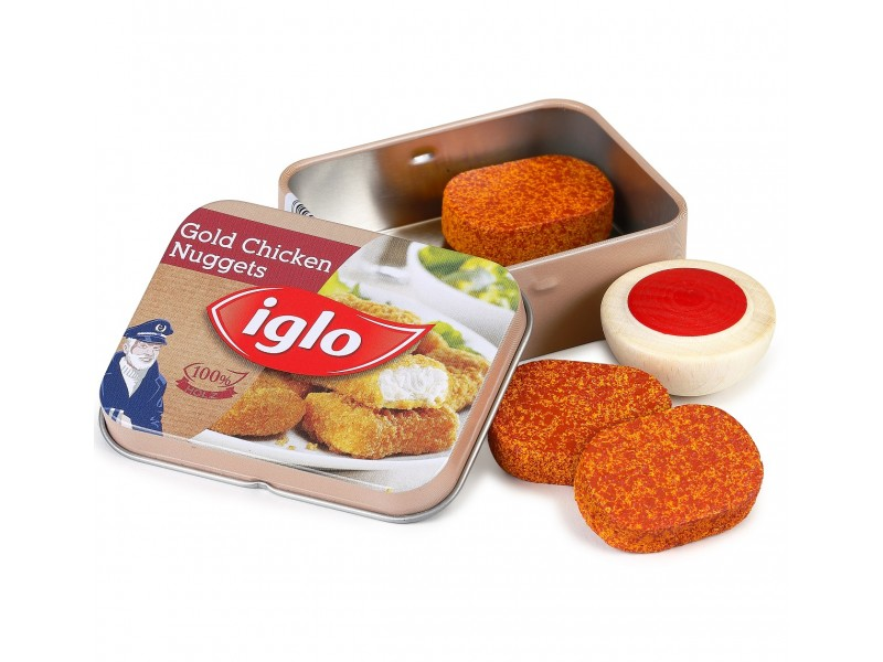 Tin of Wooden Chicken Nuggets