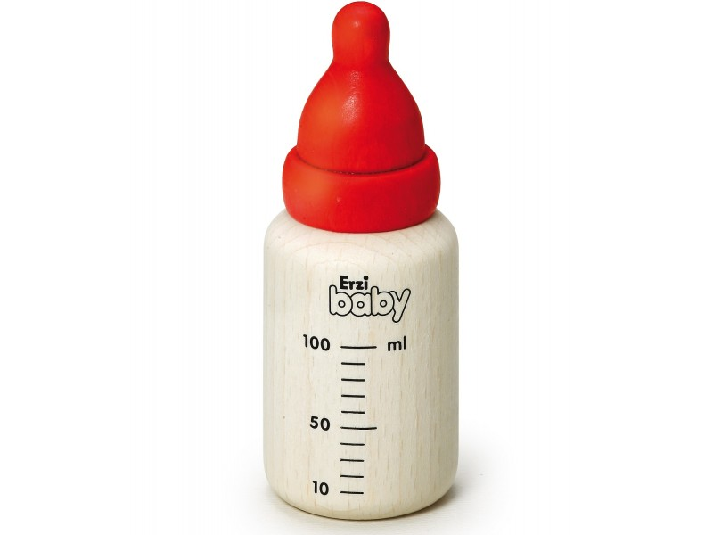 1 x Wooden Baby Bottle