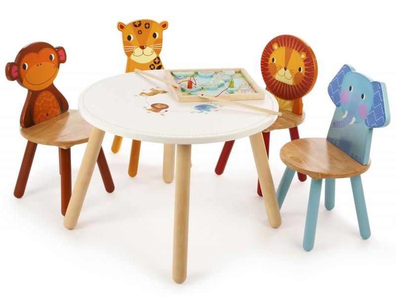 Tidlo Safari Animal Table L T 0200 Woodentoyshop Co Uk