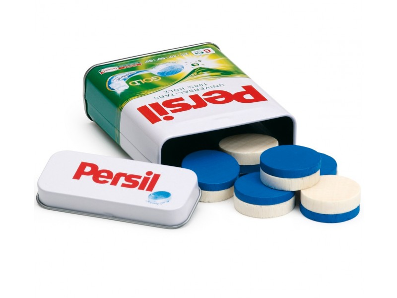 Tin of Wooden Persil Laundry Tablets