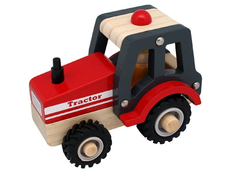 Wooden Tractor with Rubber Wheels