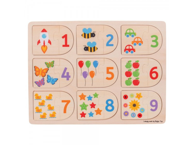 Matching Picture and Number Puzzle