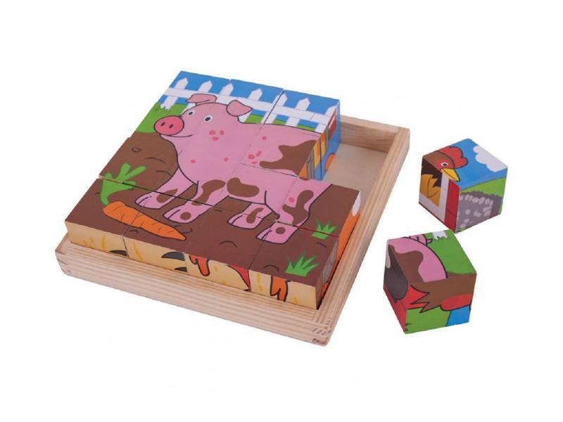 Large Farm Cube Puzzle