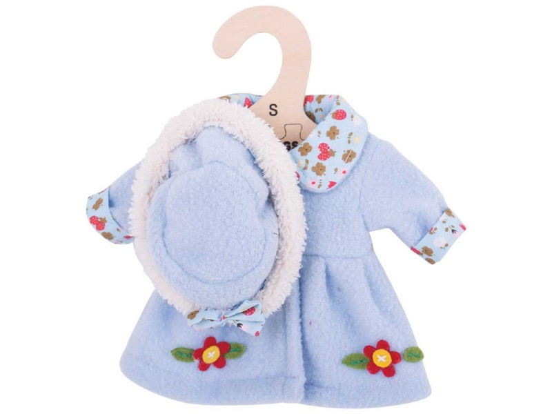 Blue Hat and Coat (for 28cm Doll)