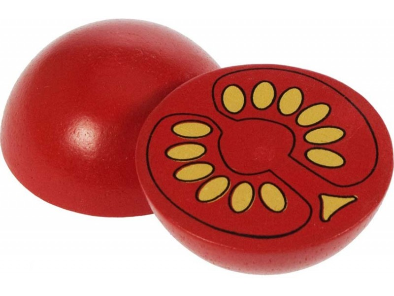 2 x Wooden Tomato Halves