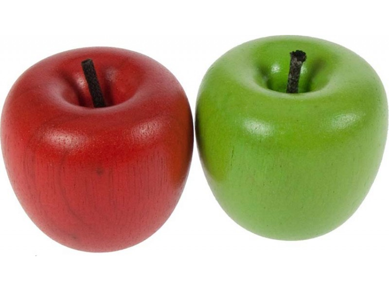 2 x Wooden Apples