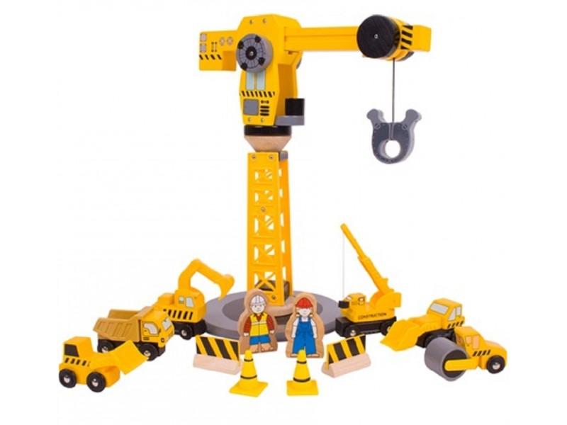 Big Yellow Crane and Construction Set