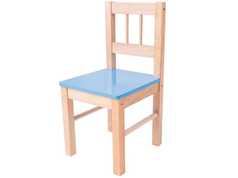 Childrens Blue Wooden Chair