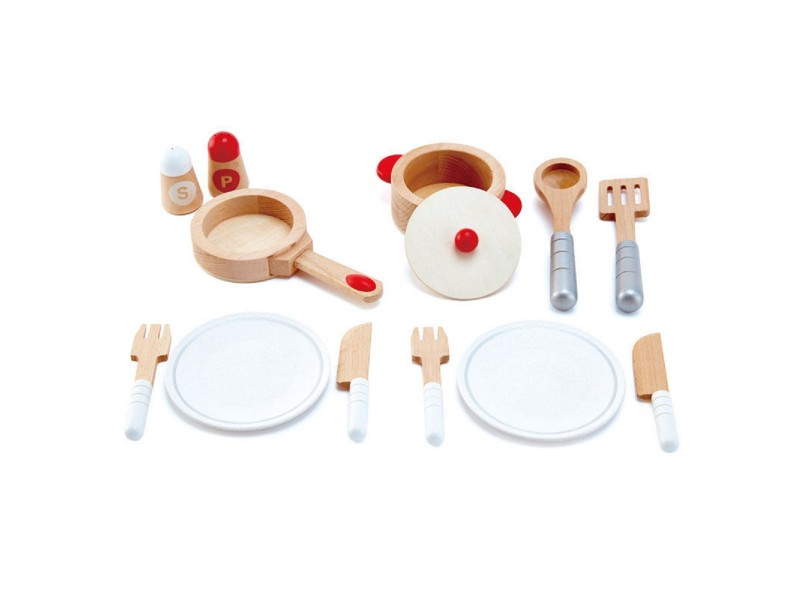 Cook and Serve Wooden Play Set