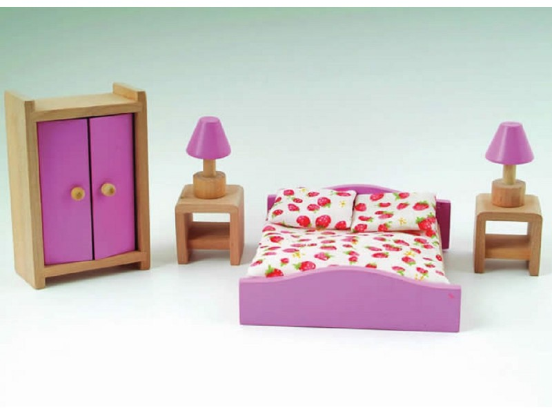 Pink Dolls House Bedroom Set