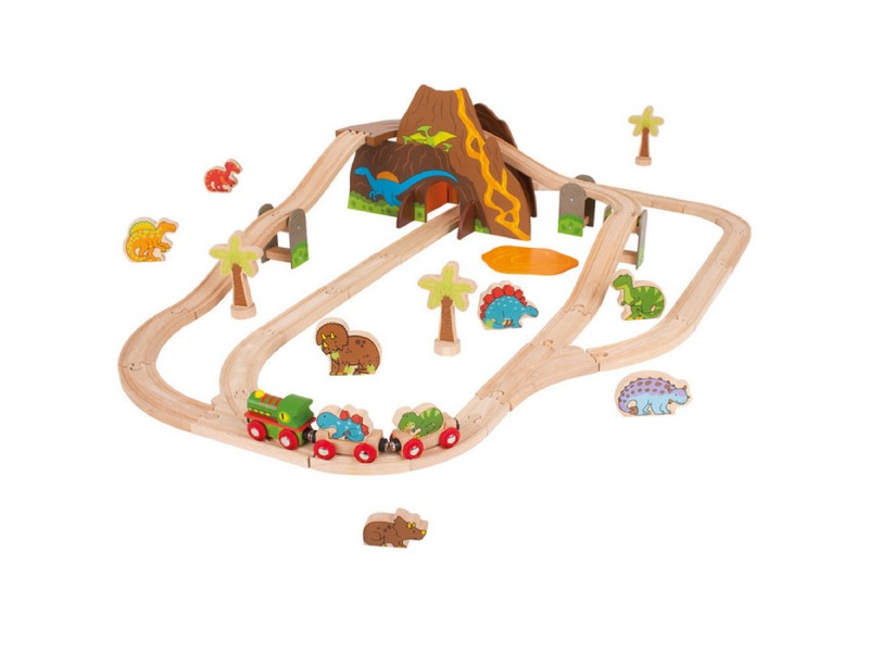BigJigs Dinosaur World Train Set