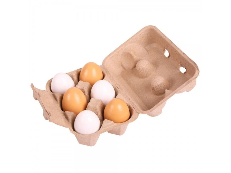 BigJigs Box of 6 Wooden Egg