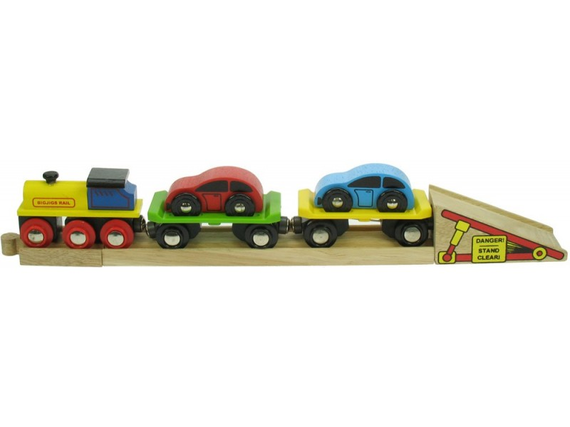 BigJigs Rail Car Transporter Train