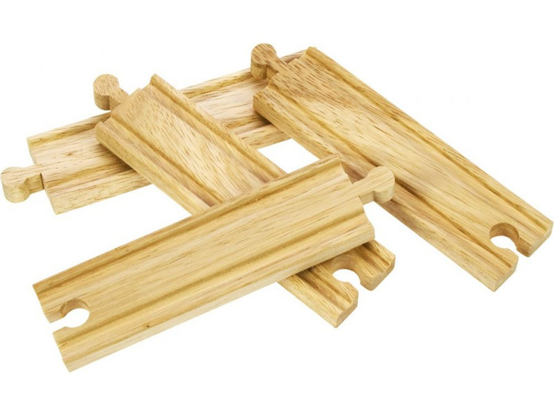 Wooden Train Track - Medium Straights
