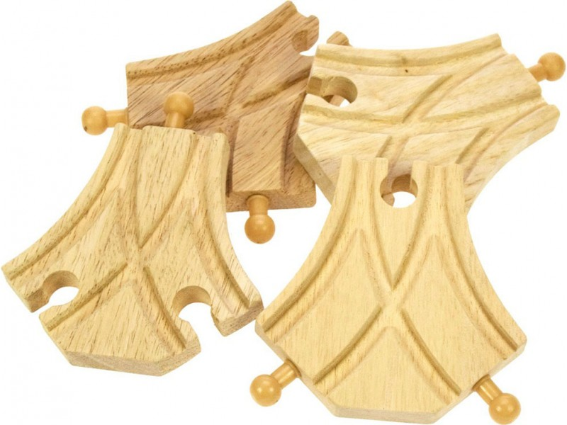 Wooden Train Track - Curved Turnouts