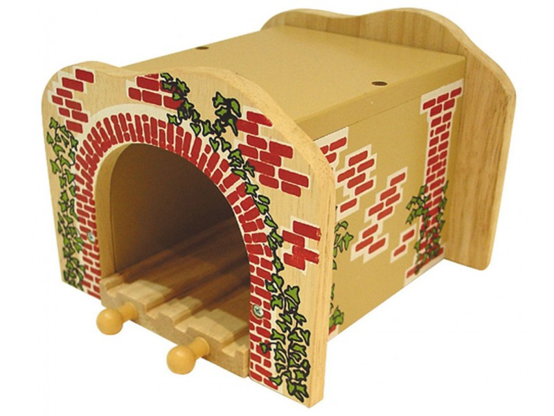 Wooden Train Track - Double Tunnel