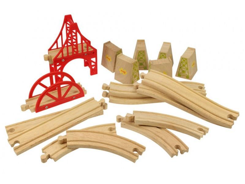 Wooden Train Track - Bridge Expansion Set