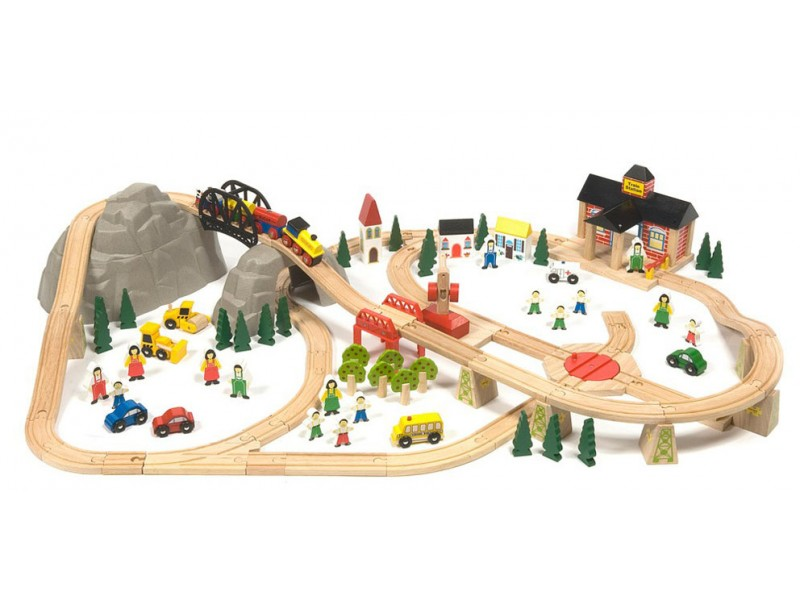 BigJigs Mountain Railway Set (112 pieces)