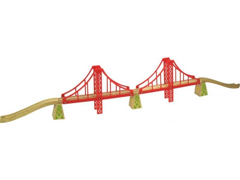 BigJigs Rail Double Suspension Bridge