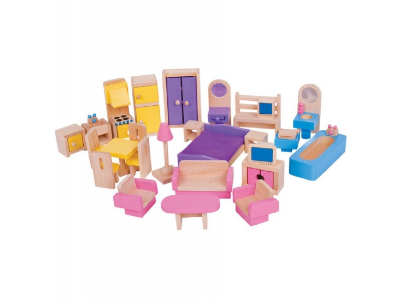 dolls furniture set. Bigjigs Dolls House Furniture Set E