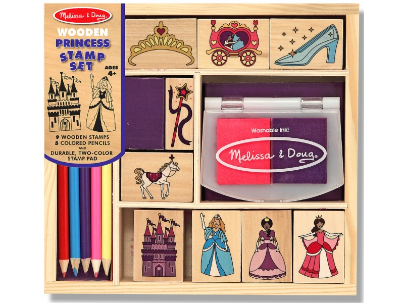 Princess Wooden Stamp Set