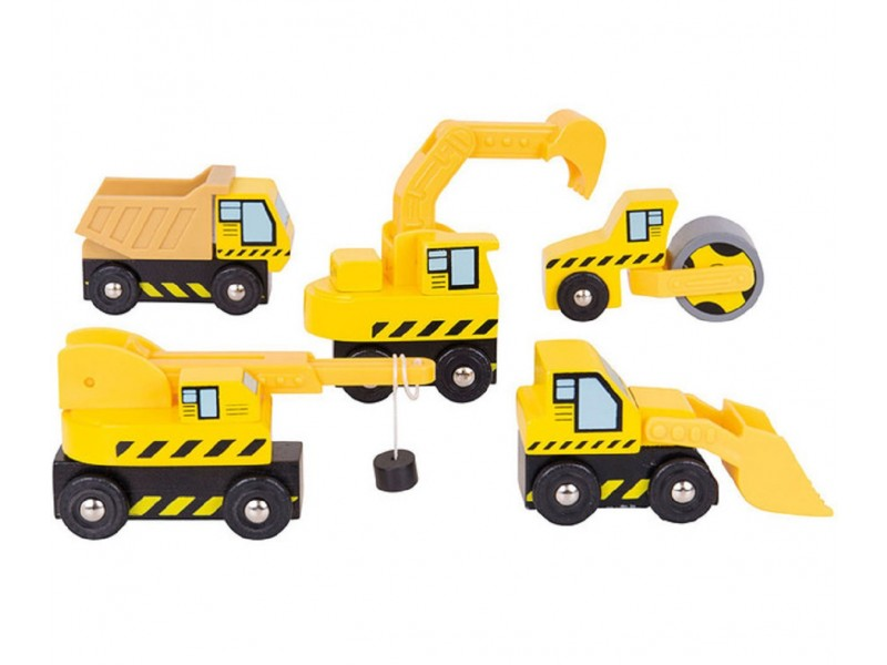 Bigjigs Construction Vehicles Set