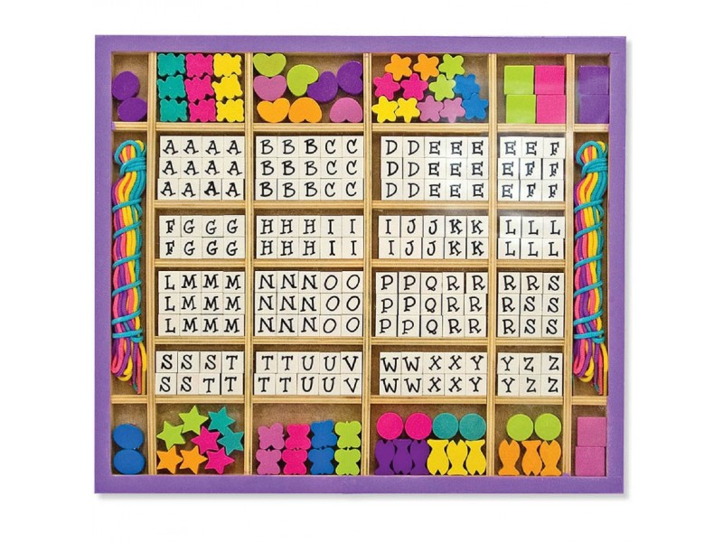 Alphabet Stringing Wooden Bead Set