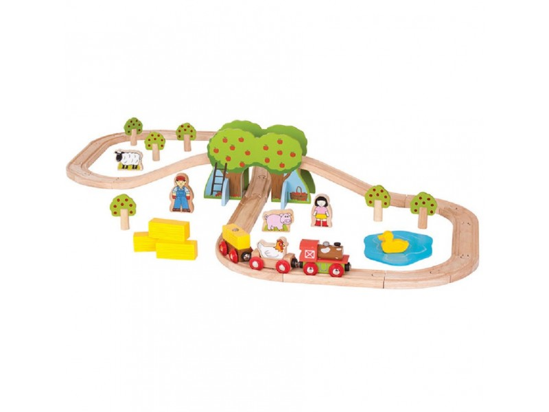 Bigjigs Farm Train Set