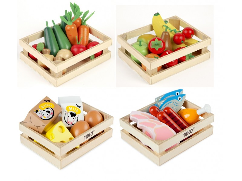 Tidlo Play Food Crates Bundle