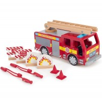 Large Wooden Fire Engine Set