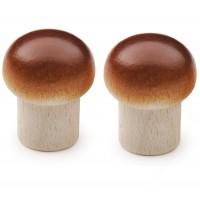 2 x Wooden Mushrooms
