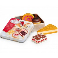 Tin of Wooden Cakes & Pastries