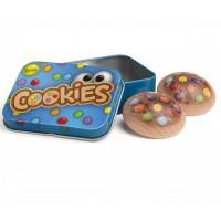 Tin of Wooden Cookies