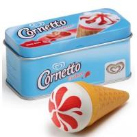 Wooden Ice Cream Cornetto in a Tin