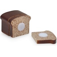 1 x Slicing Wooden Loaf of Brown Bread