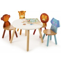 Safari Table and 4 Chairs Set