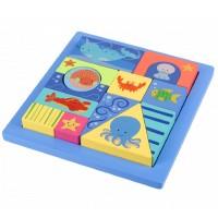Block Tray Puzzle - Sealife