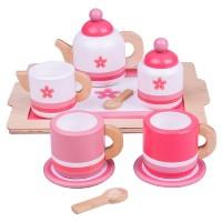 Pink Tea Set and Tray
