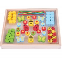 Lacing Bead Box - Garden