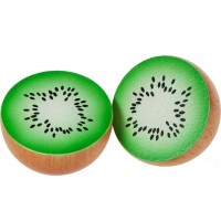 2 x Wooden Kiwi Fruit Halves