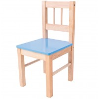 Childrens Blue Wooden Chair