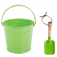 Childrens Green Bucket and Spade
