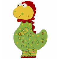 Dinosaur Wooden Number Puzzle