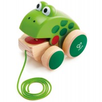 Pull Along Wooden Frog