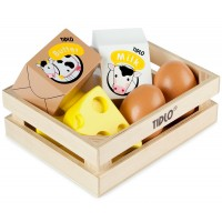 Tidlo Wooden Eggs and Dairy Set