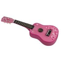 Pink Flowers Guitar