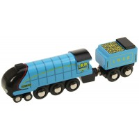 BigJigs Rail Mallard Wooden Train