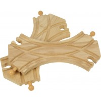 Wooden Train Track - Double Curved Turnouts